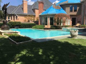 Dallas Roof damaged by hail storm - CLC Roofing Company Repairing