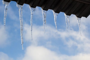 Ice Formation On Roofing